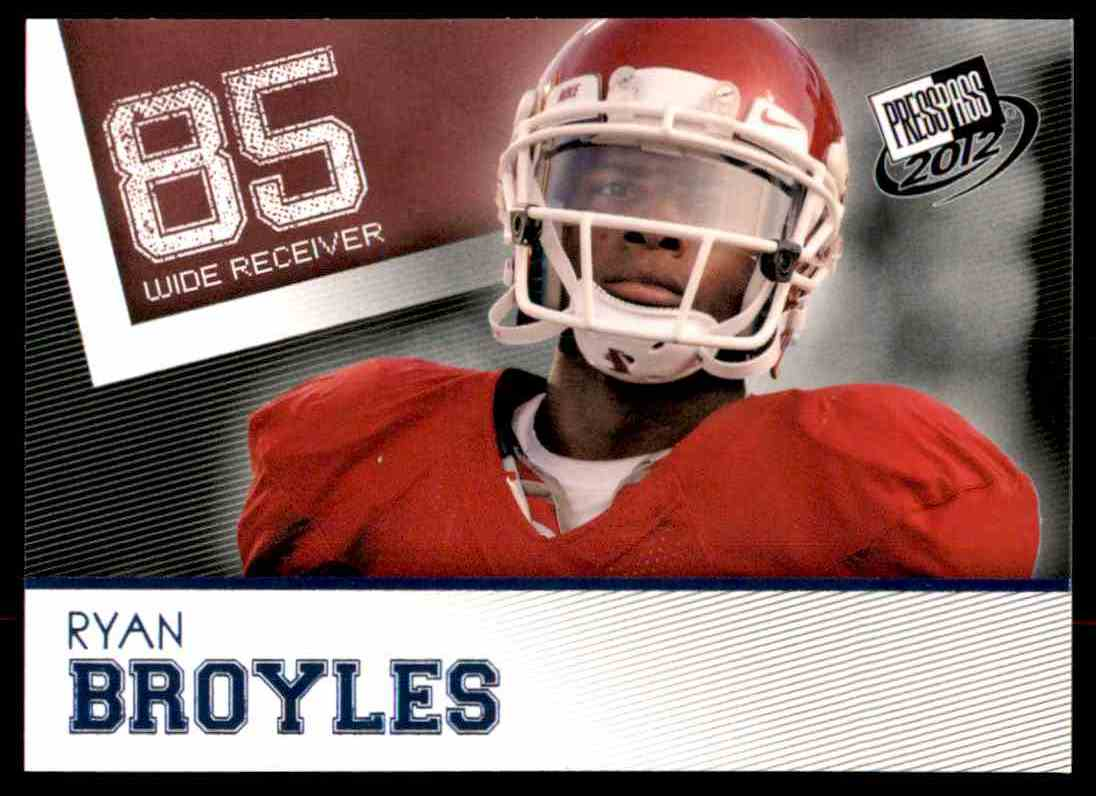 2012 Press Pass Ryan Broyles #5 card front image