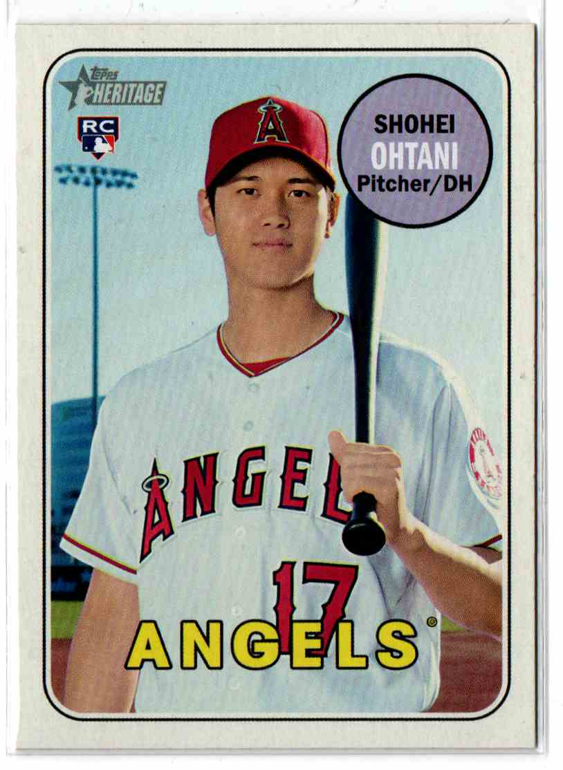 Image result for 2018 topps heritage #600 shohei ohtani
