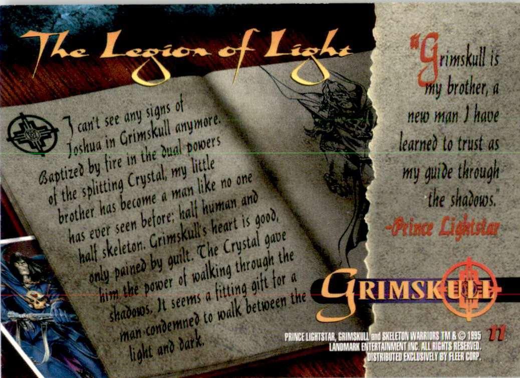 1995 Skeleton Warriors Ultra Grimskull #11 card back image