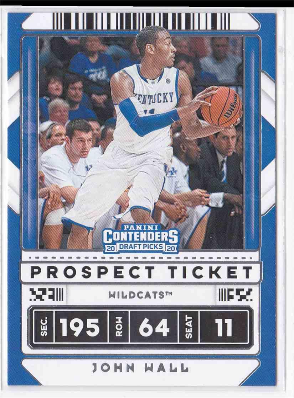 2020-21 Panini Contenders Draft Picks Prospect  Ticket John Wall #34 card front image
