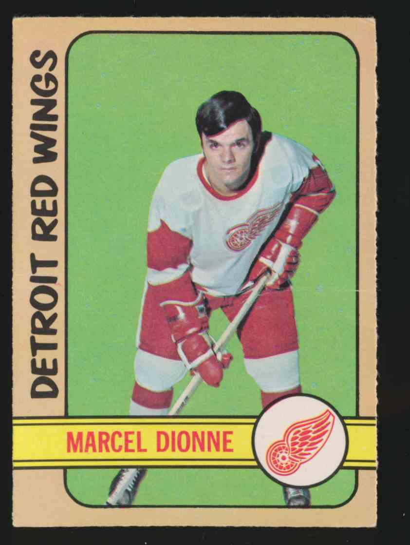 1972-73 0-Pee-Chee Marcel Dionne - Creased #8 card front image
