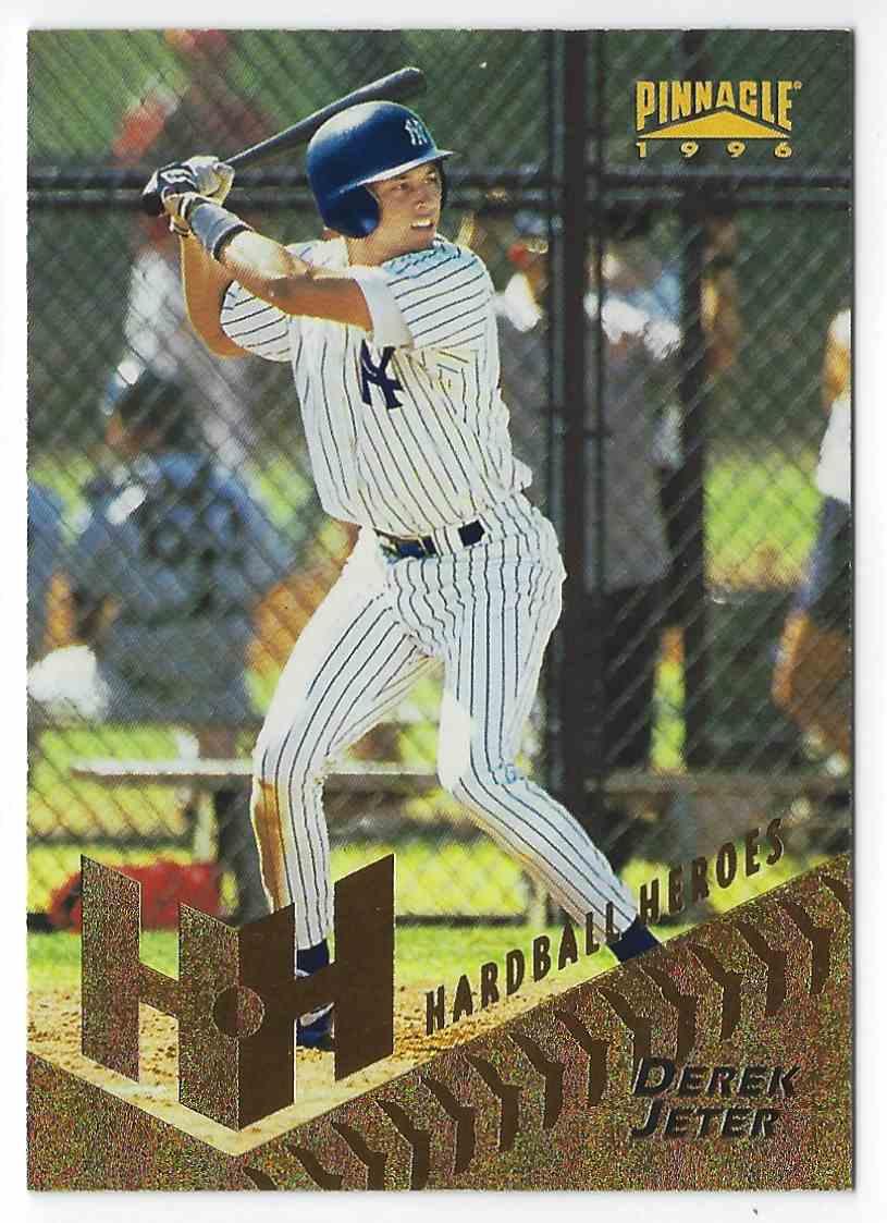 1996 Pinnacle Hardball Heros Derek Jeter #279 card front image