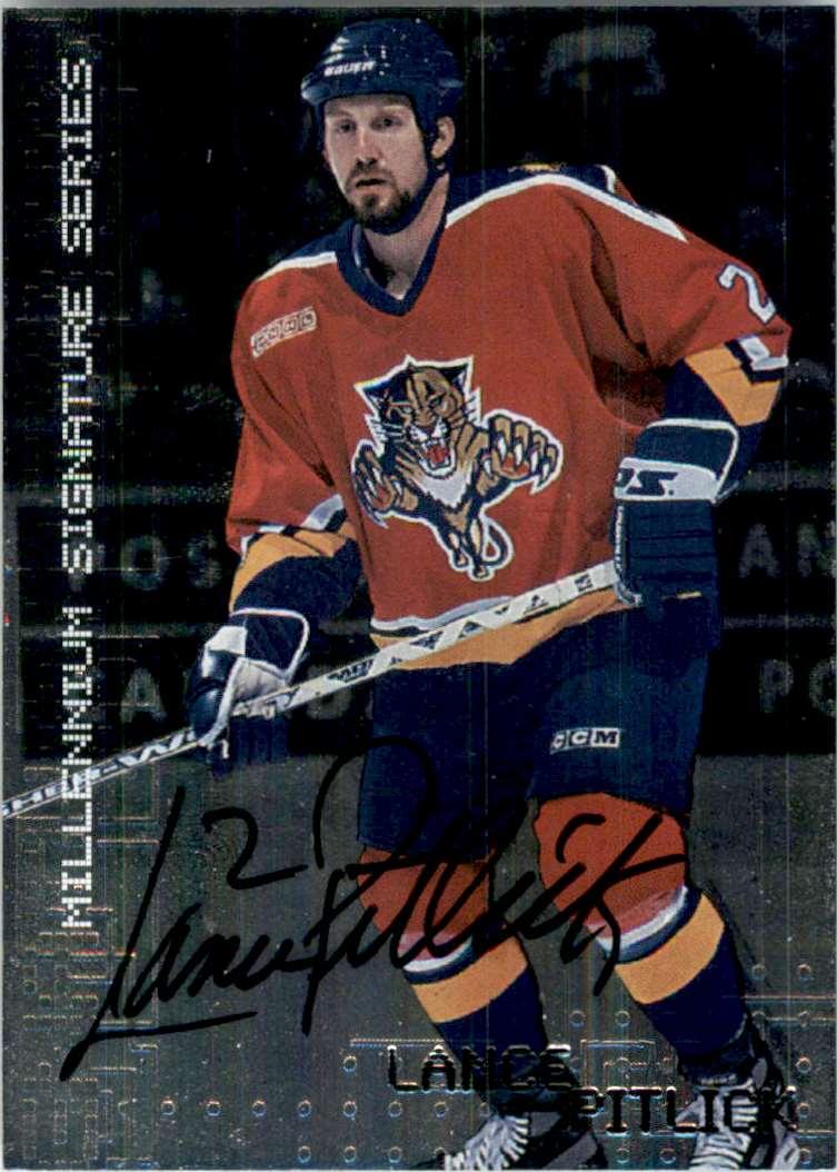 1999-00 Bap Millennium Autographs Lance Pitlick #116 card front image
