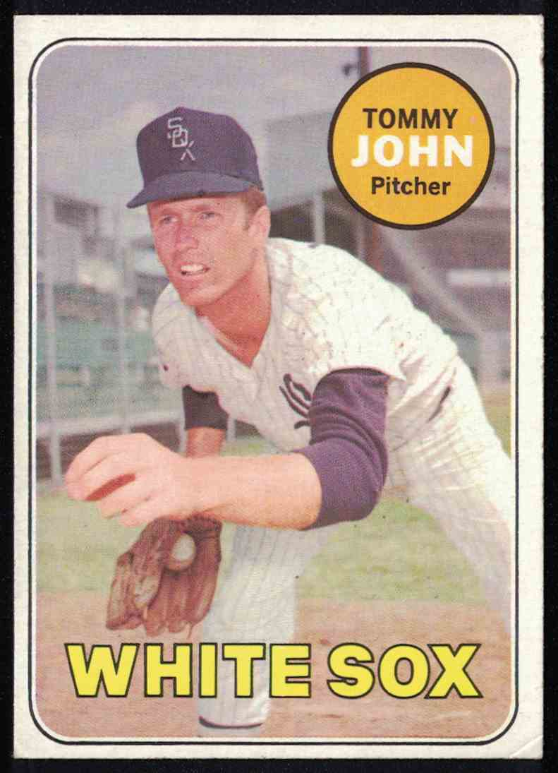 1969 Topps Tommy John VG-EX #465 card front image