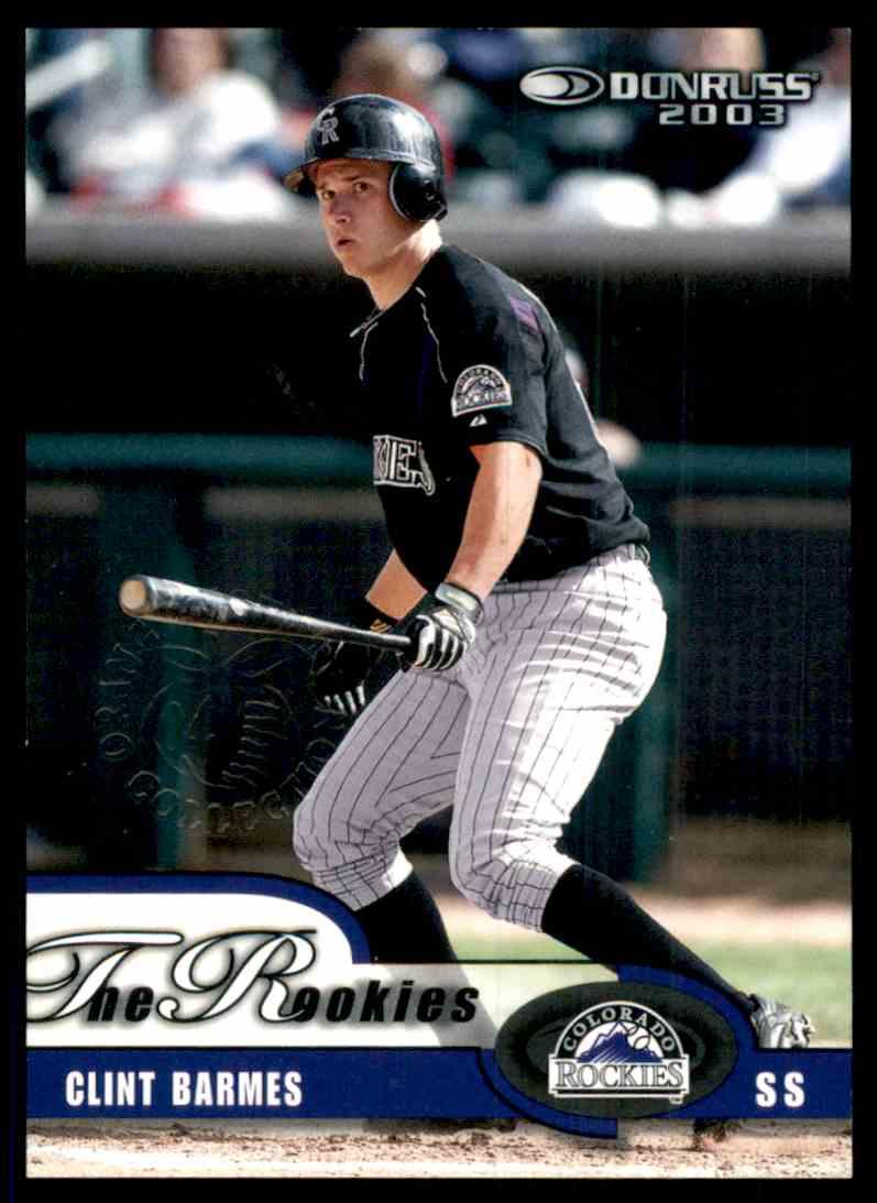 2003 Donruss Clint Barmes #11 card front image