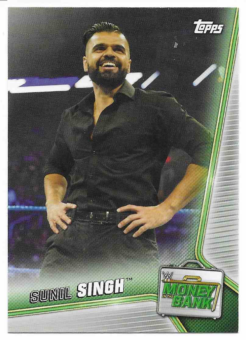 2019 Topps Wwe Money In Then Bank Sunil Singh #80 card front image