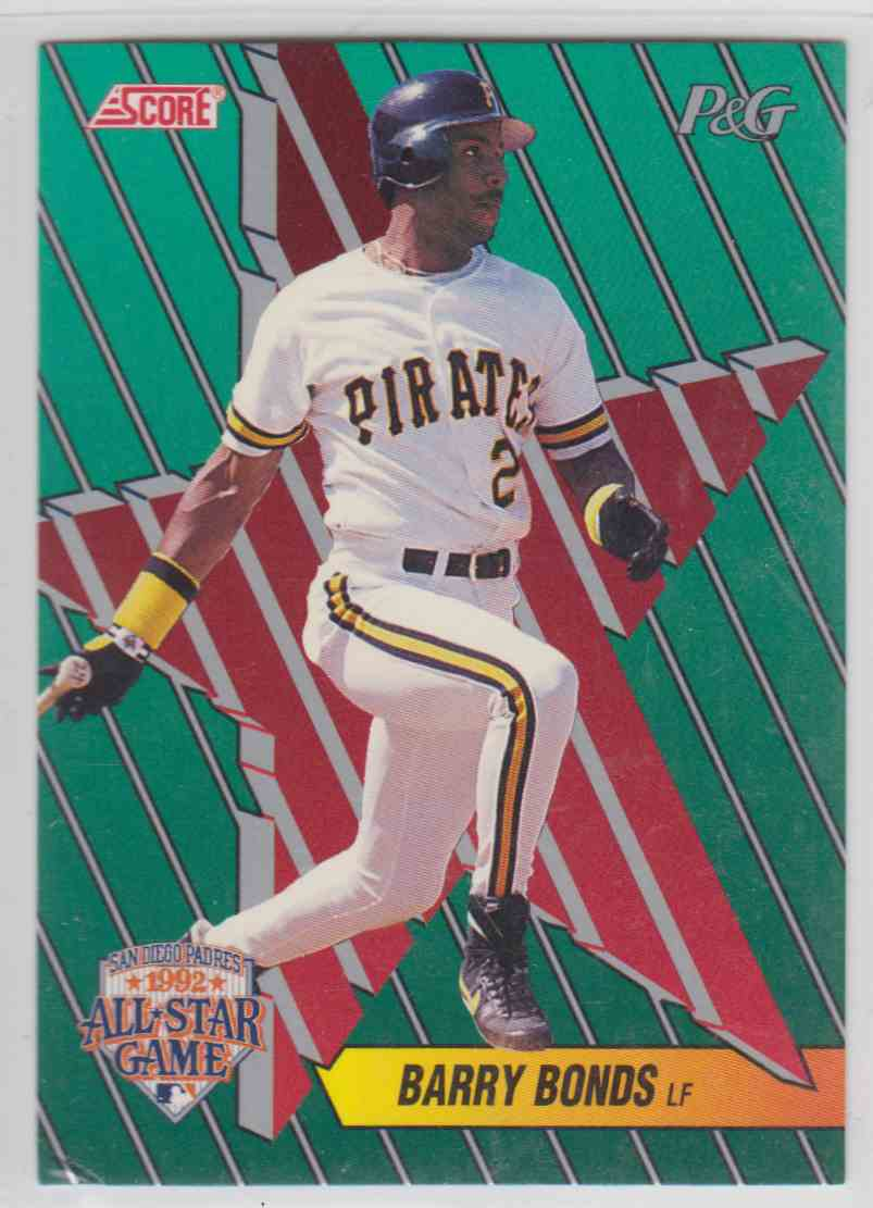 1992 Score Proctor And Gamble Barry Bonds 15 On Kronozio