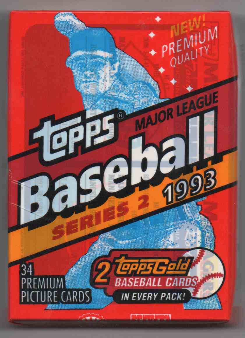 1993 Topps Series 2 Jumbo Pack Unopened Pack #34 card front image