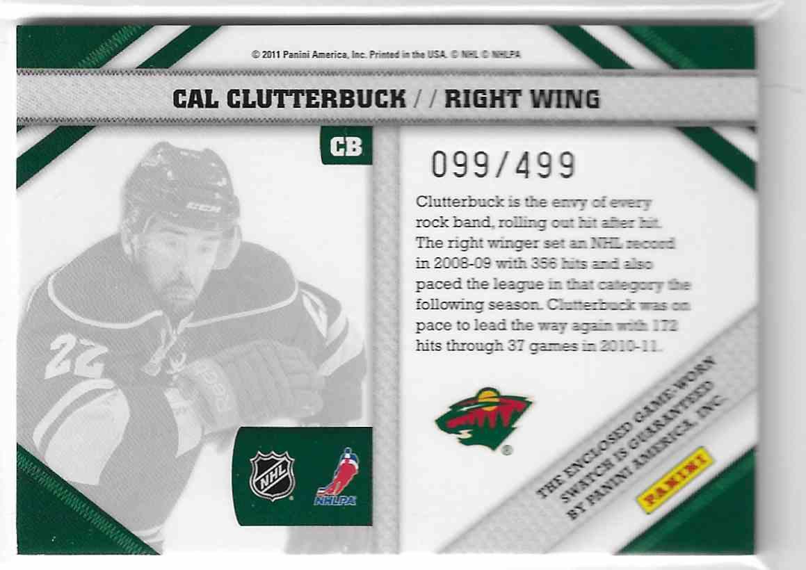 2010-11 Panini Pinnacle Threads Cal Clutterbuck #CB card back image