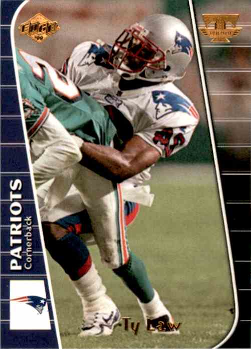 1999 Collector's Edge Triumph Ty Law #T85 card front image