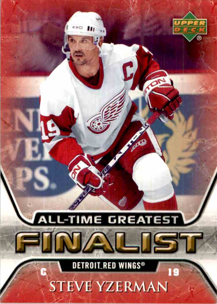 2005-06 Upper Deck All Time Greatest Steve Yzerman #22 card front image