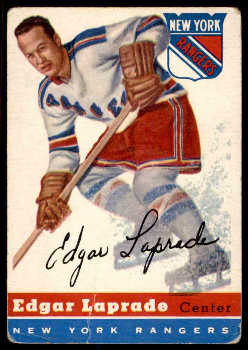 1954-55 Topps Edgar Laprade #56 card front image