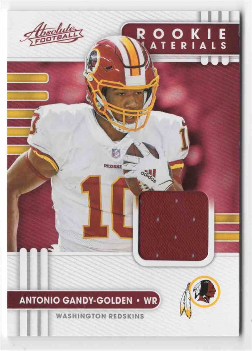 2020 Absolute Absolute Rookie Materials Antonio Gandy-Golden #36 card front image