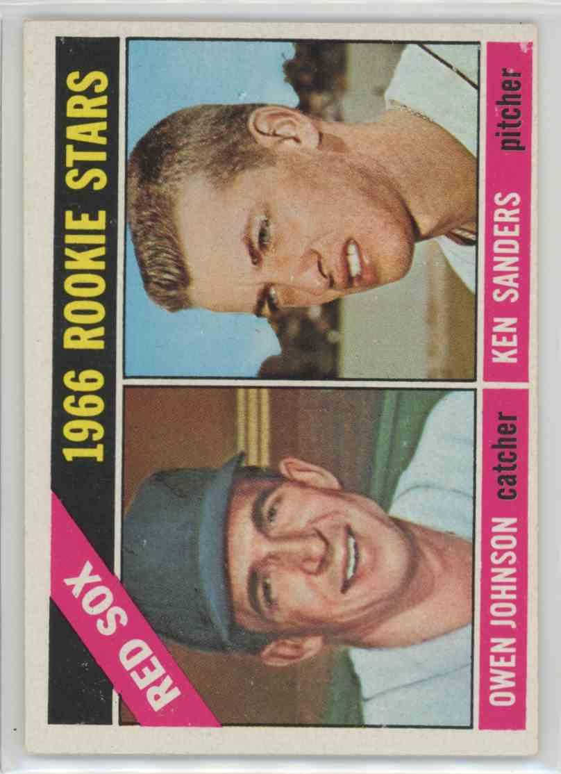 1966 Topps Owen Johnson & Ken Sanders Rookie Stars #356 card front image