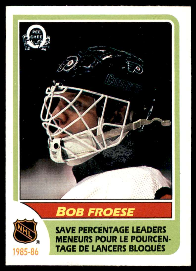 1986-87 OPC Bob Froese #264 card front image