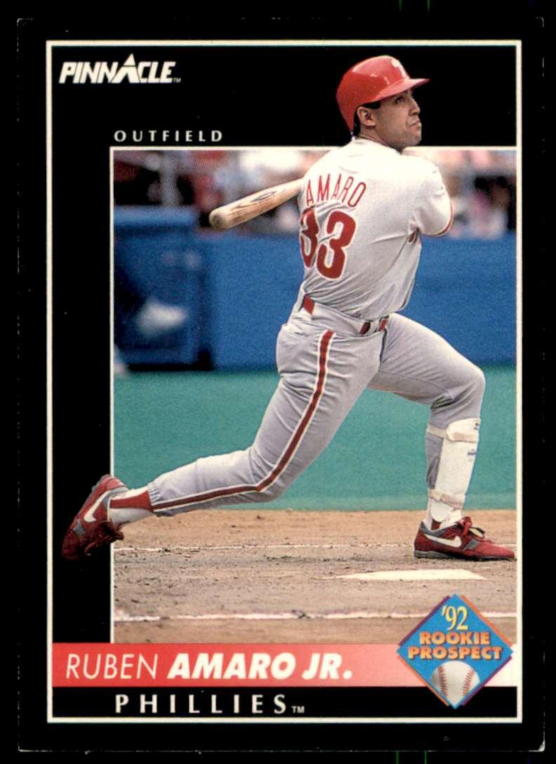 1992 Pinnacle Ruben Amaro #570 card front image