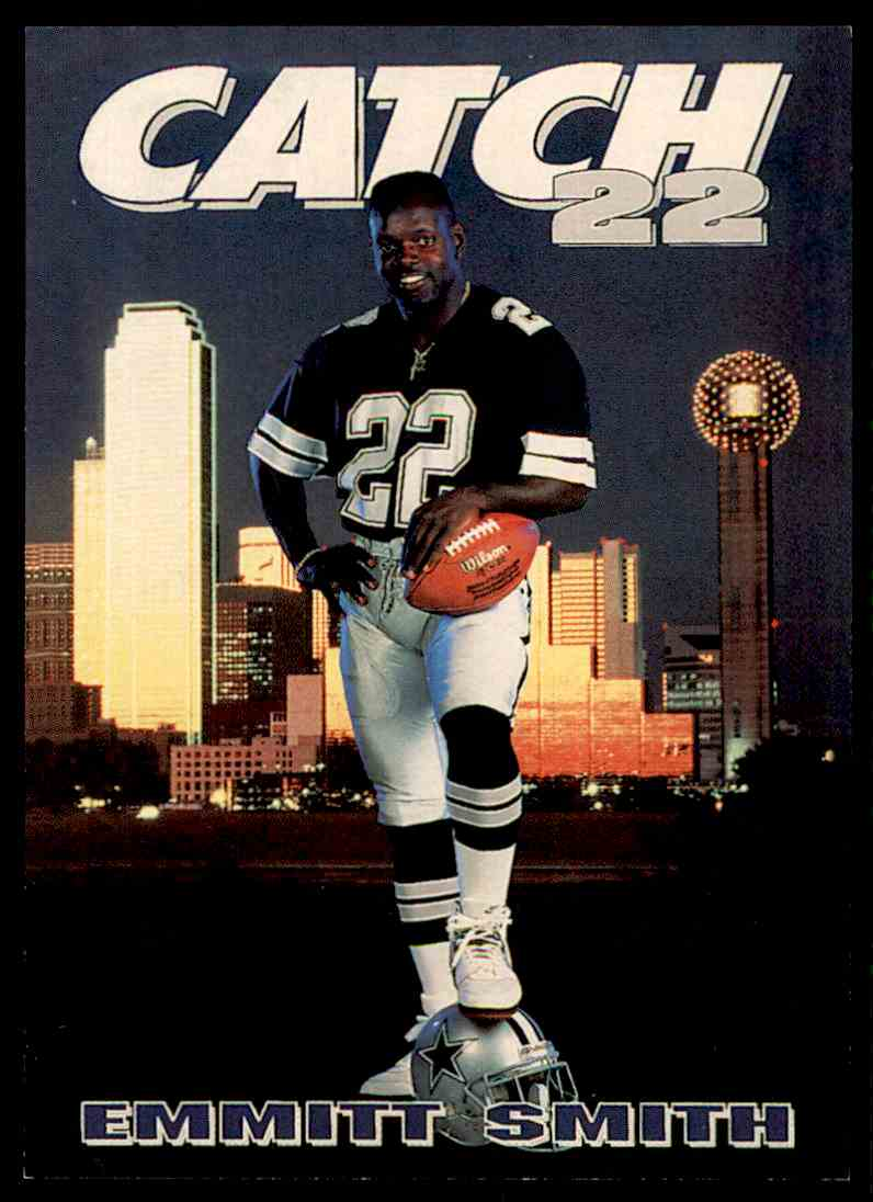 1992 Skybox Primetime Catch 22 Emmitt Smith  165 card front image 4b6725447fc2