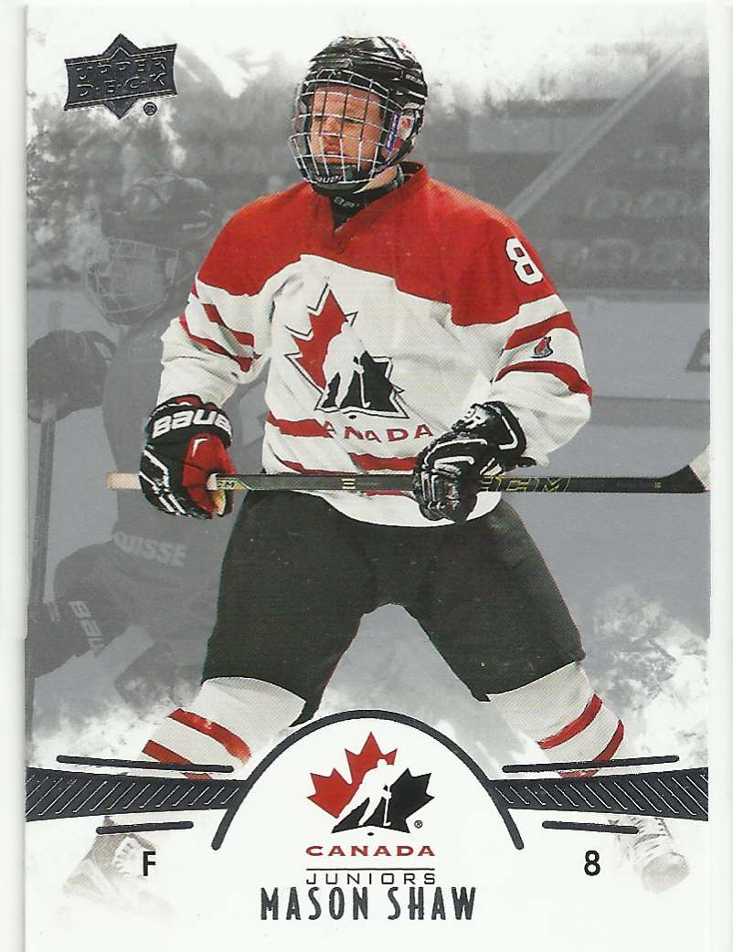 2016-17 Upper Deck Team Canada Juniors Mason Shaw #78 card front image