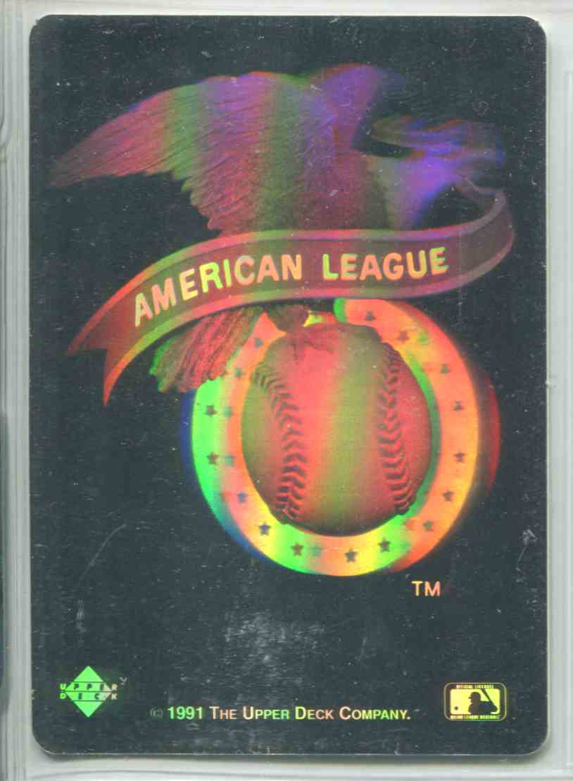1991 Upper Deck Team Logo Hologram Inserts American League