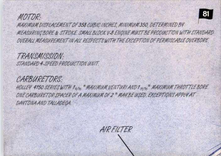 1997 Ultra Tech Talk - Track Bar Hole #81 card back image