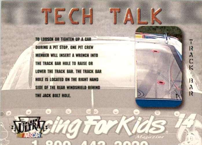 1997 Ultra Tech Talk - Track Bar Hole #81 card front image