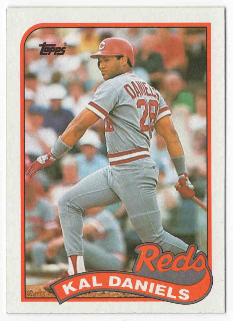 1989 Topps Kal Daniels #45 card front image