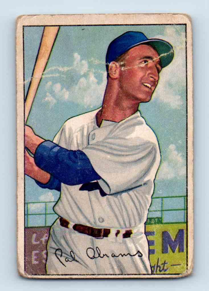1952 Bowman Cal Abrams #86 card front image