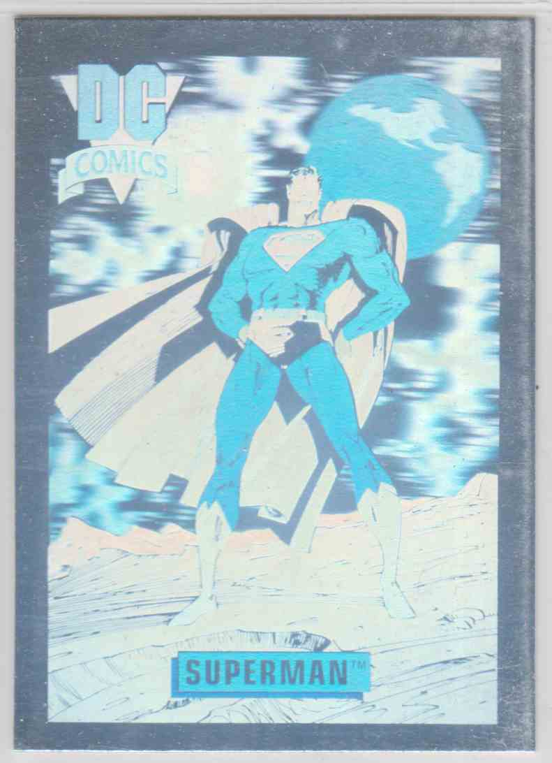 1991 DC Comics Hologram Superman #DCH8 card front image