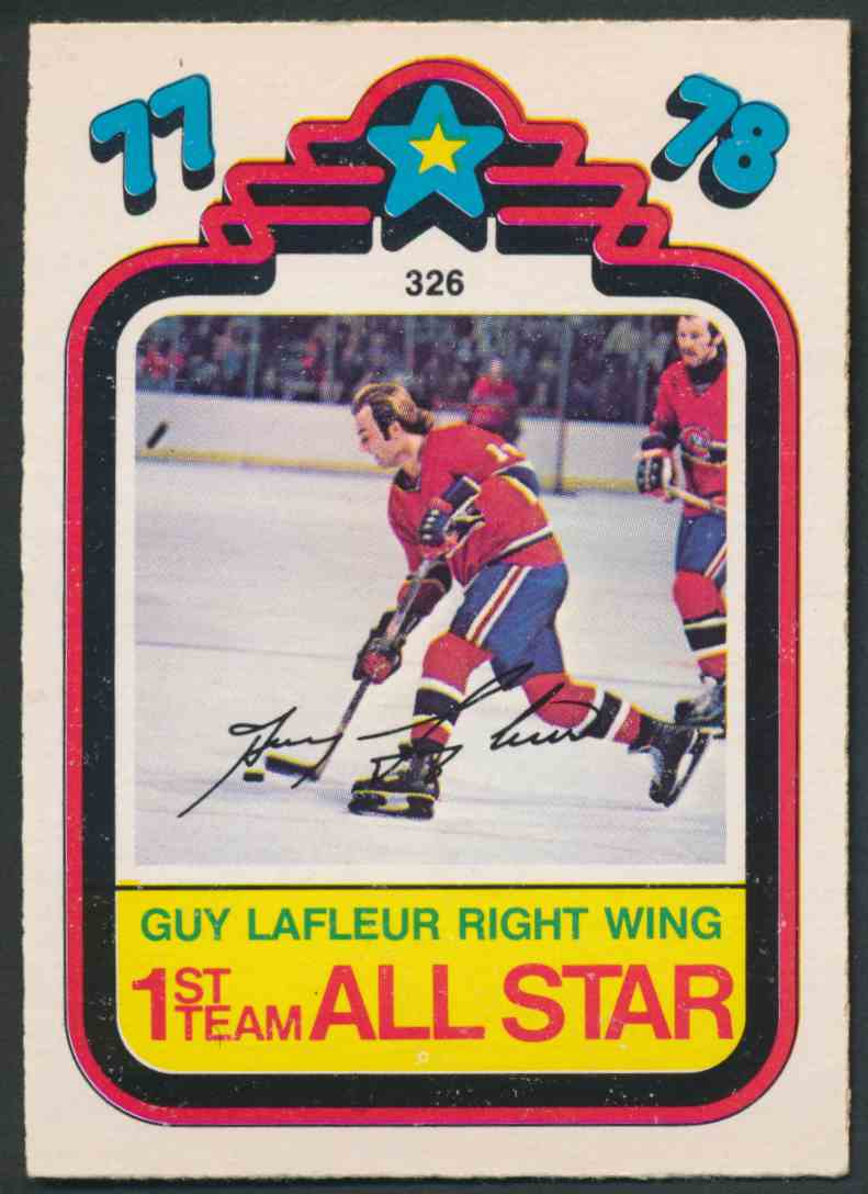 1978-79 O-Pee-Chee Guy Lafleur #326 card front image