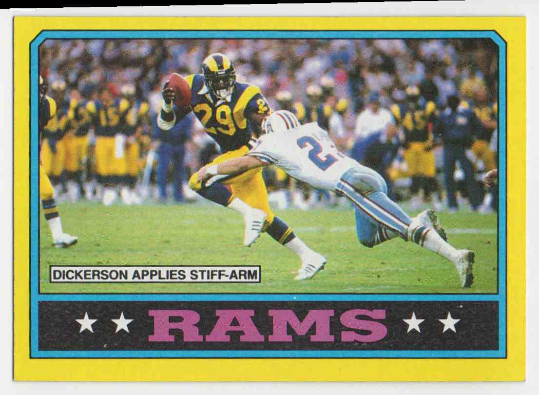 1986 Topps Rams Leaders W/Dickerson #76 card front image