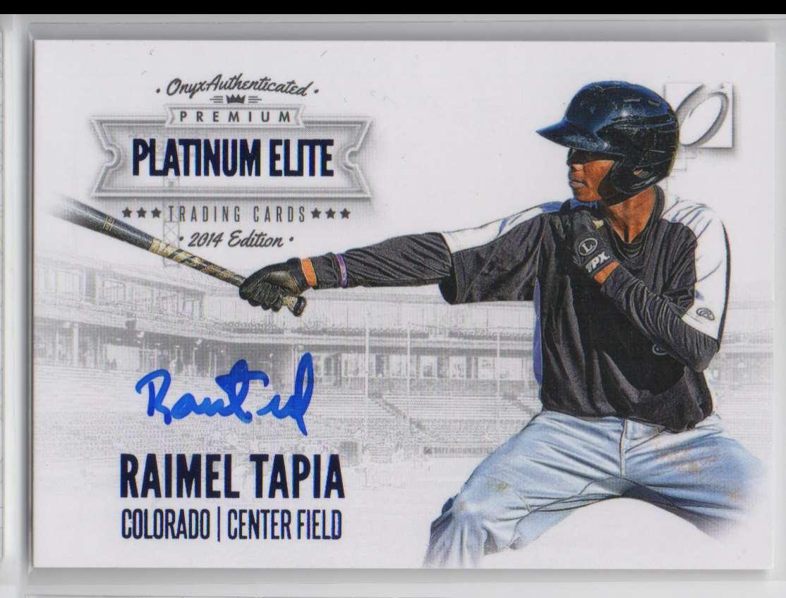 2014 Onyx Premium Platinum Elite Raimel Tapia #PE-RT card front image