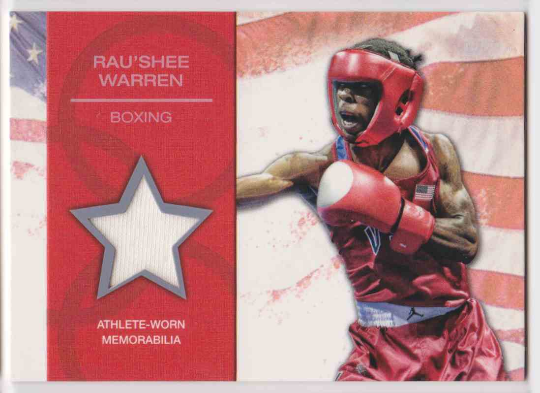 2012 Topps U.S. Olympic Team Relic Rau'shee Warren #OR-RW card front image
