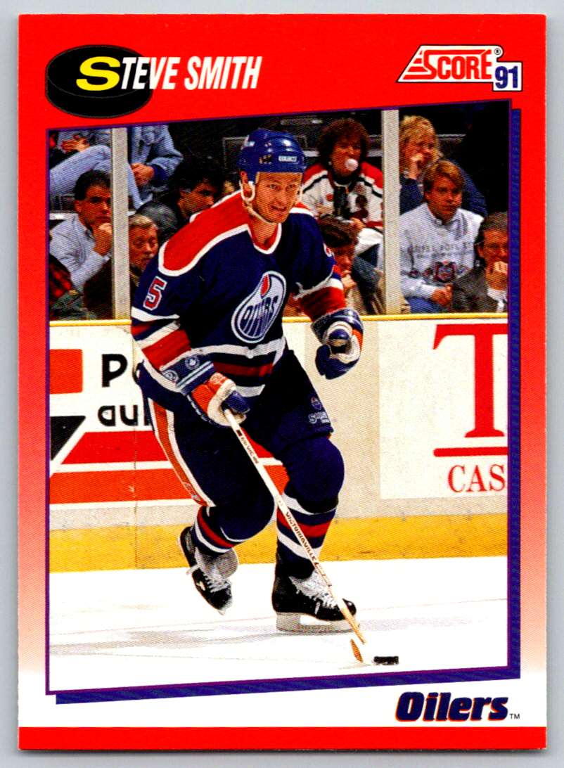 1991-92 Score Canadian Bilingual Steve Smith #11 card front image