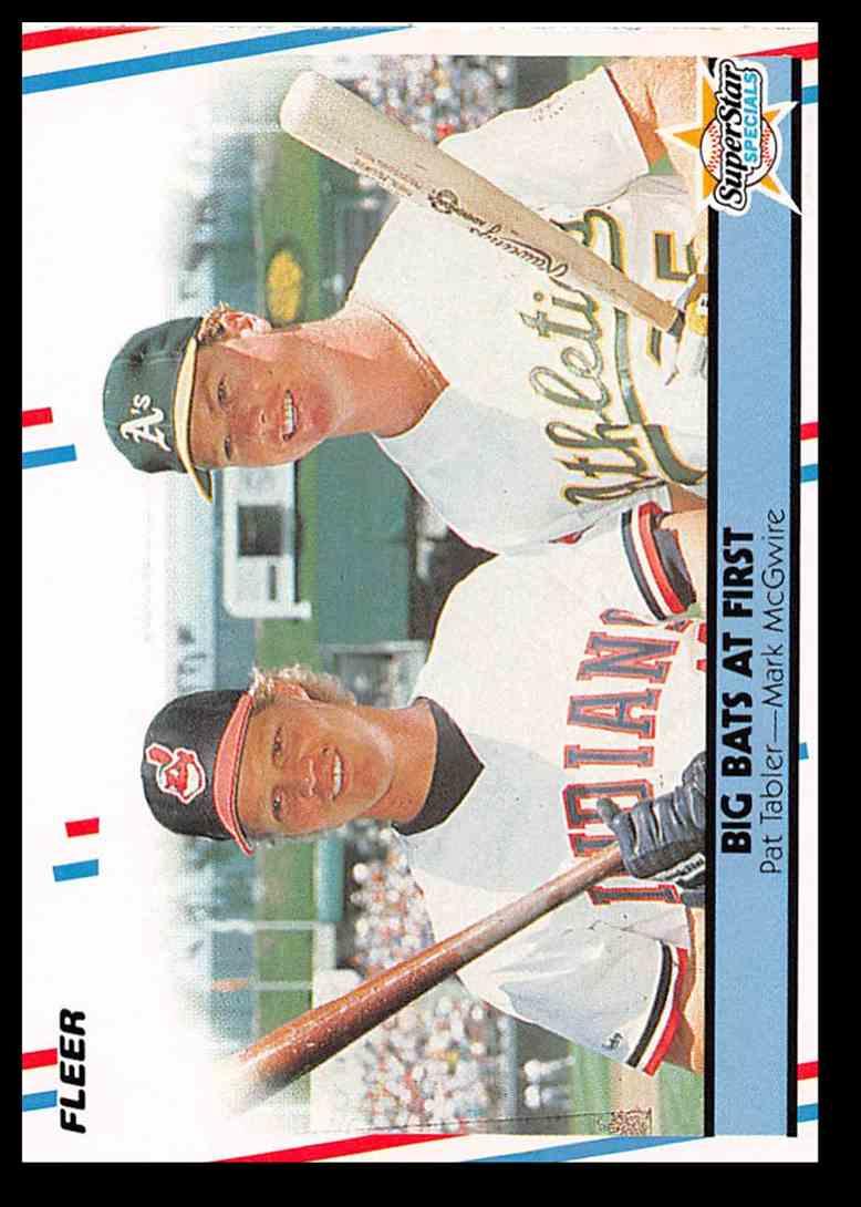 1988 Fleer Pat Tablermark Mcgwire Baseball Card 633 On Kronozio