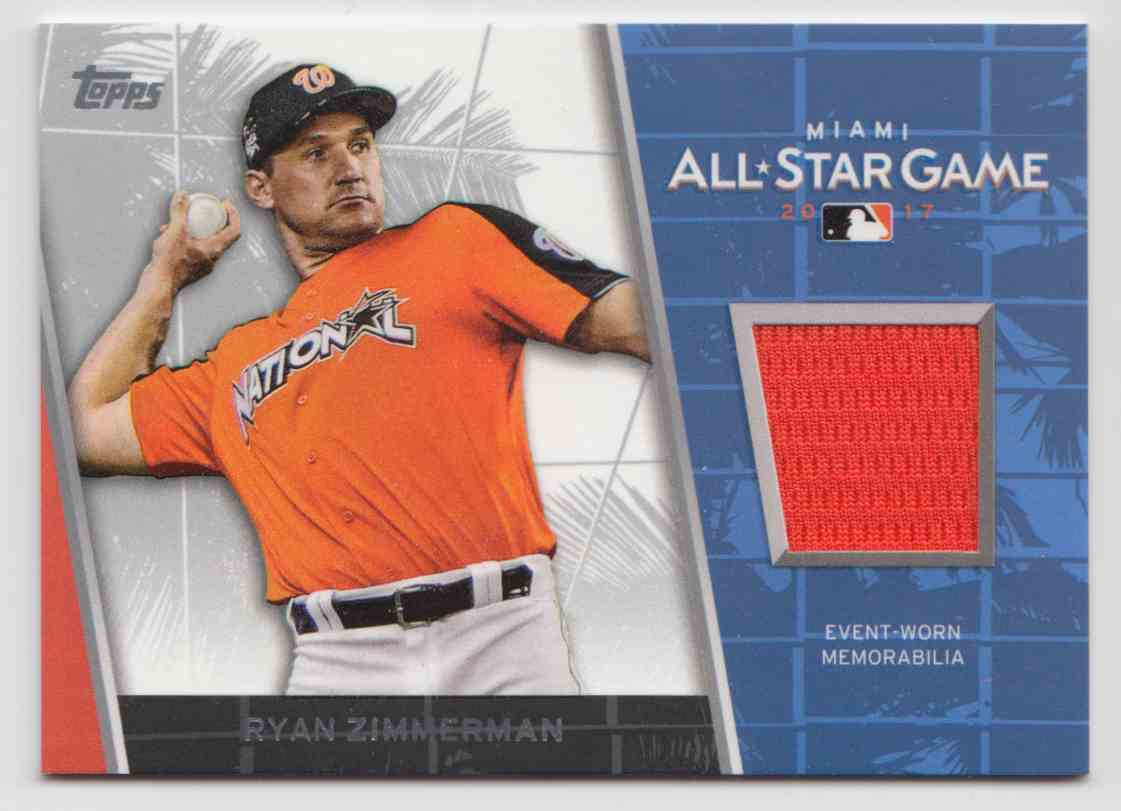 2017 Topps Update All-Star Stitches Relics Ryan Zimmerman #ASR-RZ card front image