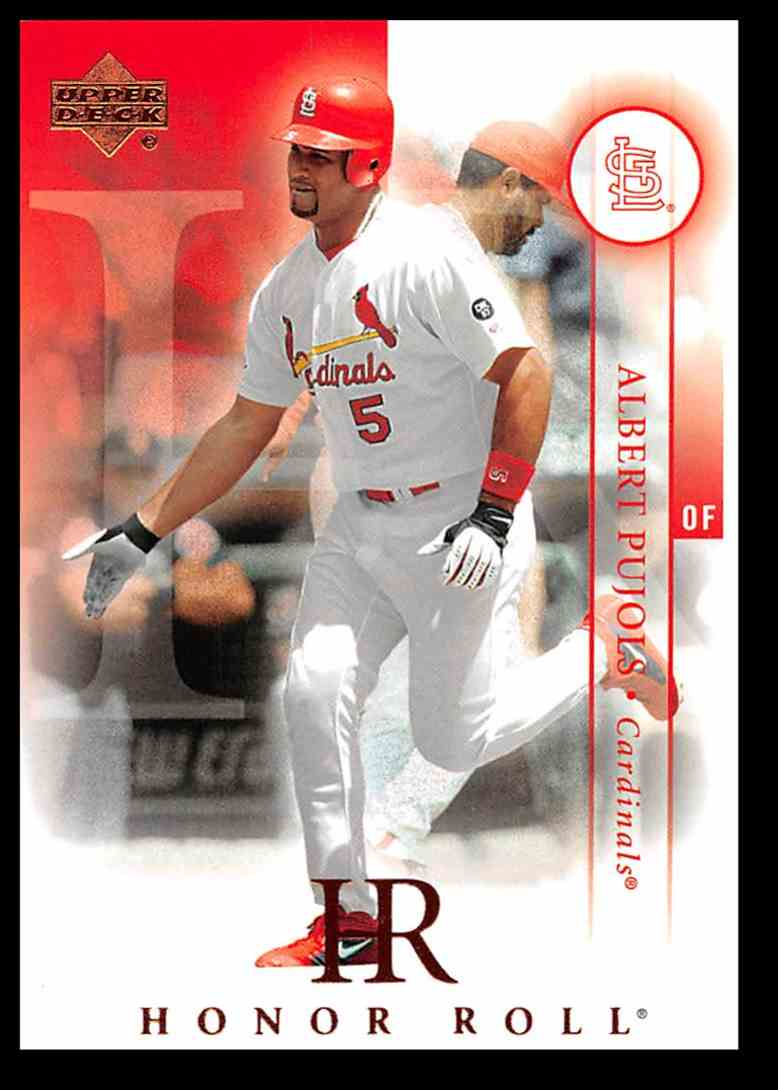 2003 Upper Deck Honor Roll Baseball Card Albert Pujols 29