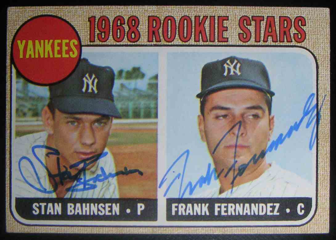 1968 Topps 1968 Rookie Stars Stan Bahnsen Frank Fernandez #214 card front image