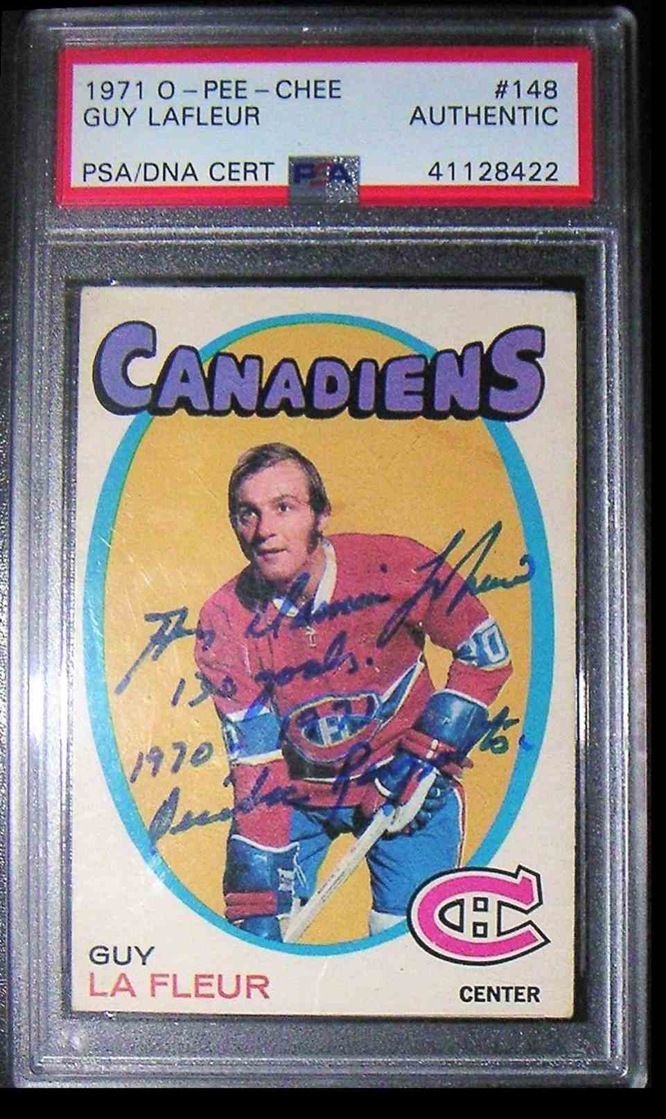 1971-72 O-Pee-Chee Guy Lafleur #148 card front image