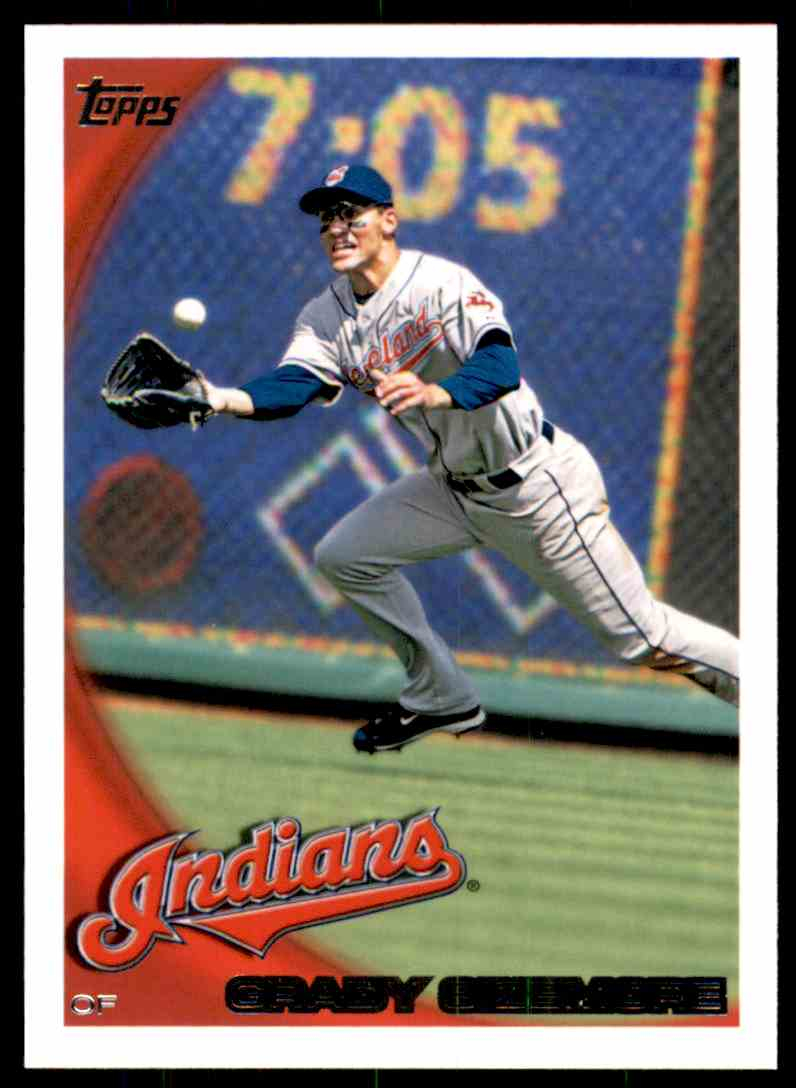 2010 Topps Grady Sizemore #625 card front image