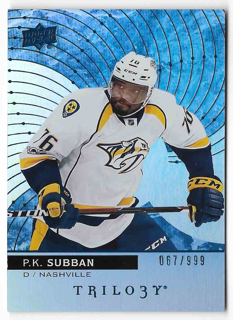 2017-18 Upper Deck Trilogy P.K. Subban #33 card front image
