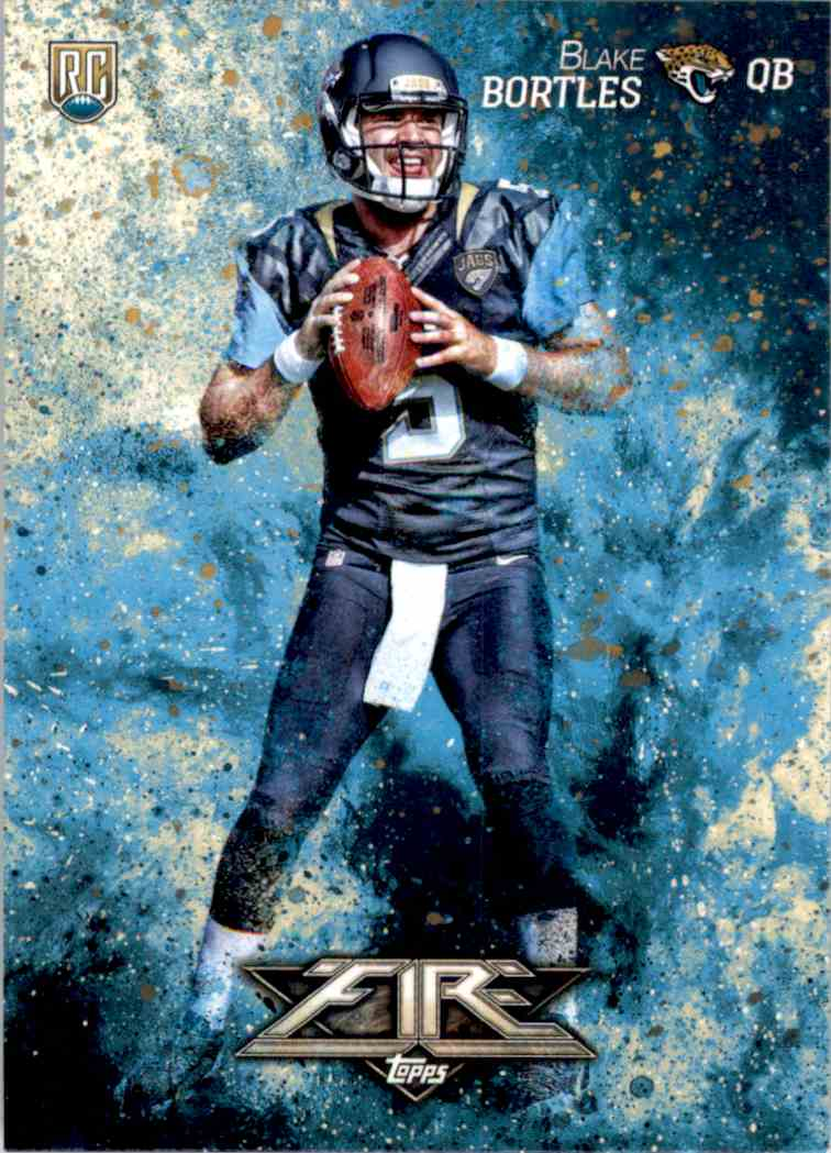 2014 Topps Fire Blake Bortles RC #114 card front image