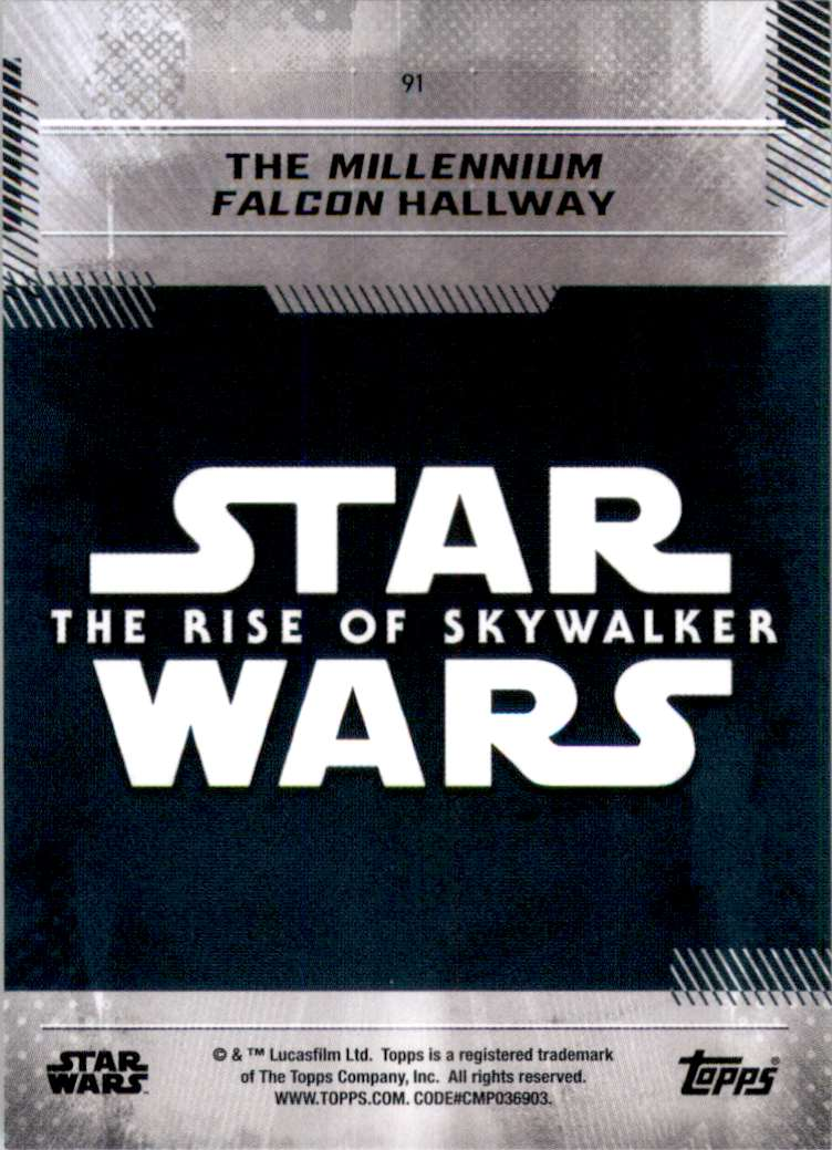 2019 Star Wars The Rise Of Skywalker Series One The Millennium Falcon Hallway #91 card back image