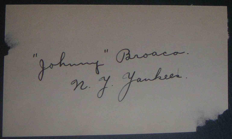 1934 3X5 John Broaca card front image