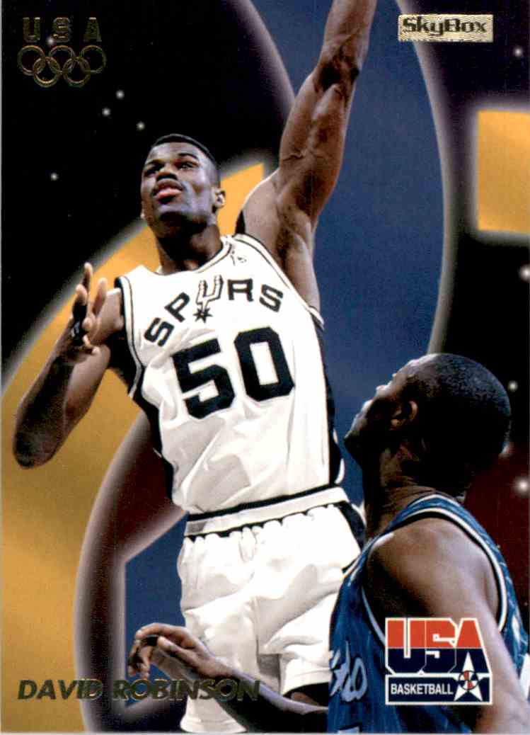 1996-97 SkyBox USA David Robinson #18 card front image