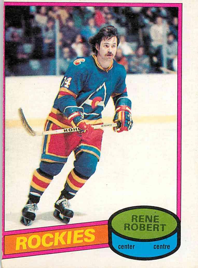 1980-81 O-Pee-Chee Rene Robert #239 card front image