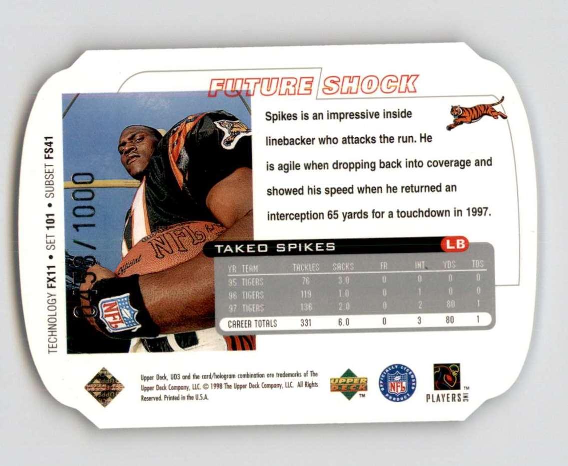 1998 Ud3 Die Cuts Takeo Spikes Ff #101 card back image