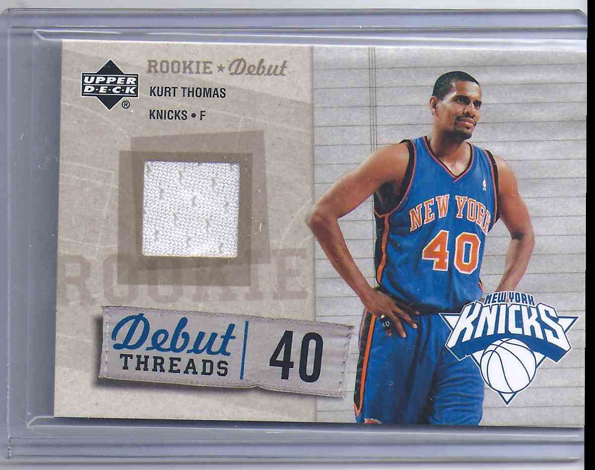 2005-06 Upper Deck Rookie Debut Threads Kurt Thomas #KT card front image