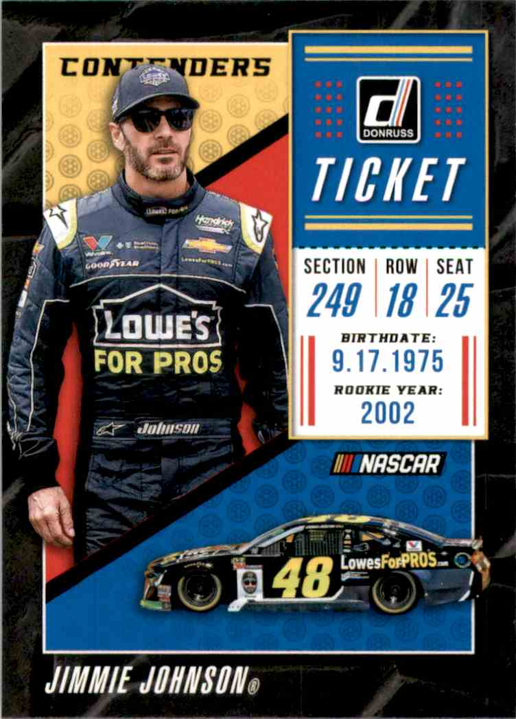 2019 Donruss Contenders Jimmie Johnson #C14 card front image