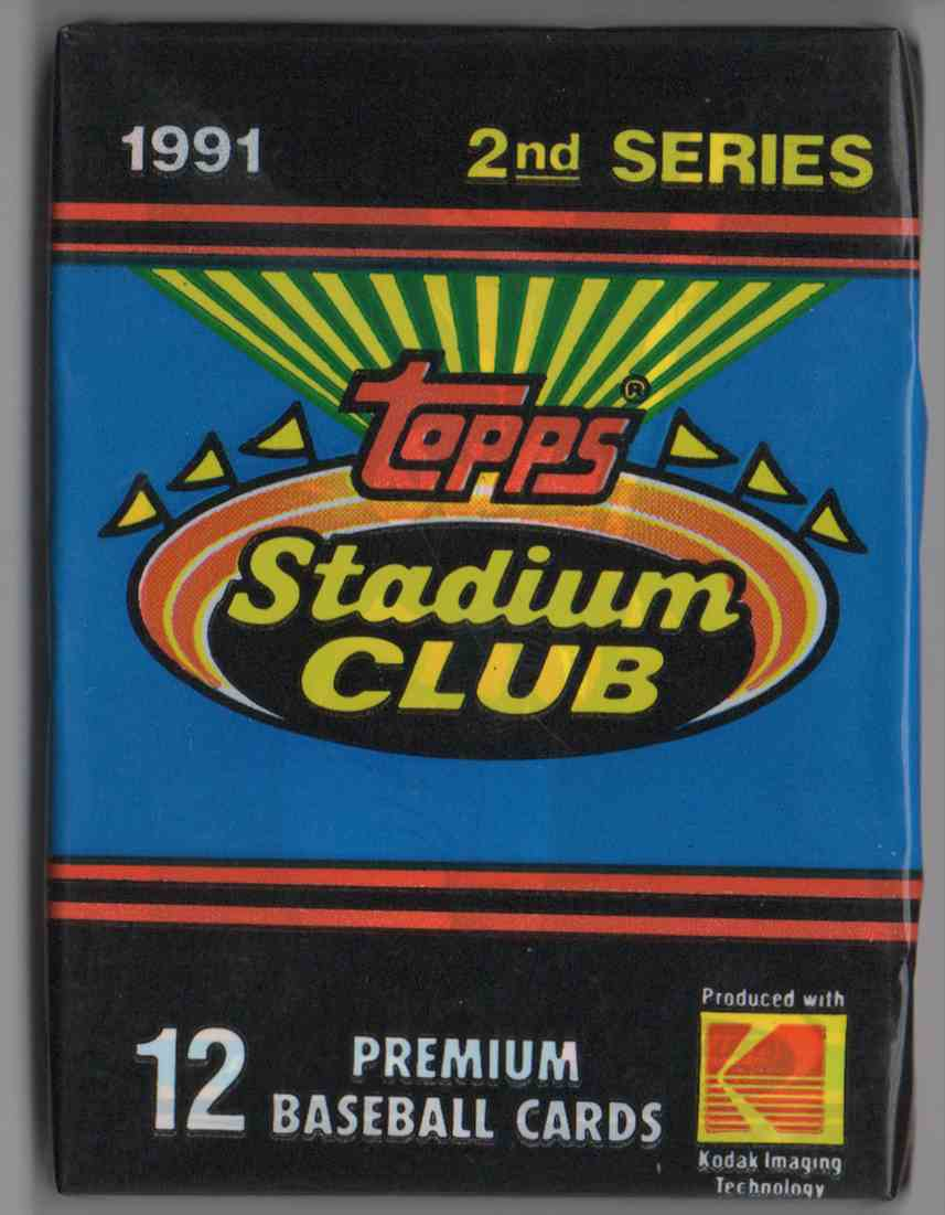 1991 Stadium Club Series 2 Unopened Pack #12 card front image