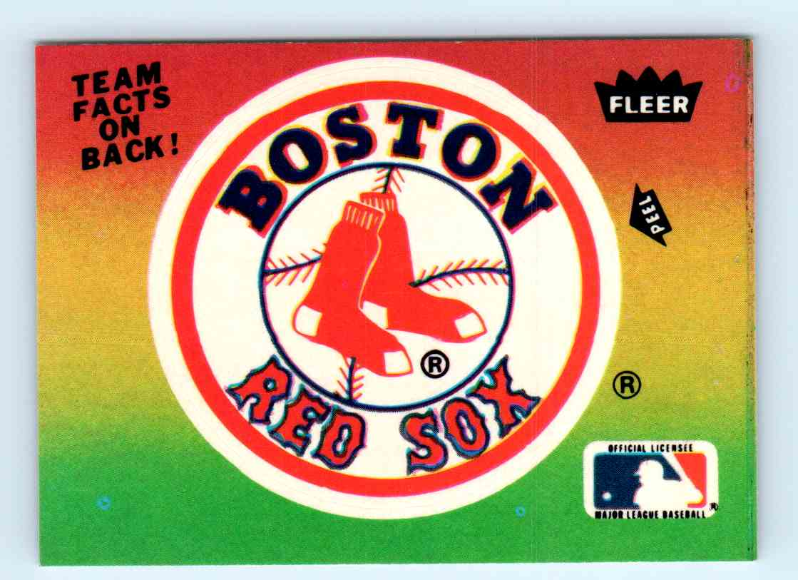 3 Boston Red Soxlogo Trading Cards For Sale